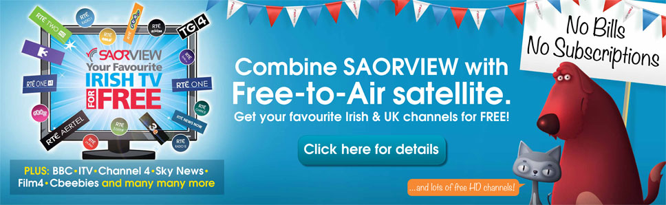 Combine Saorview with Free to Air Satellite